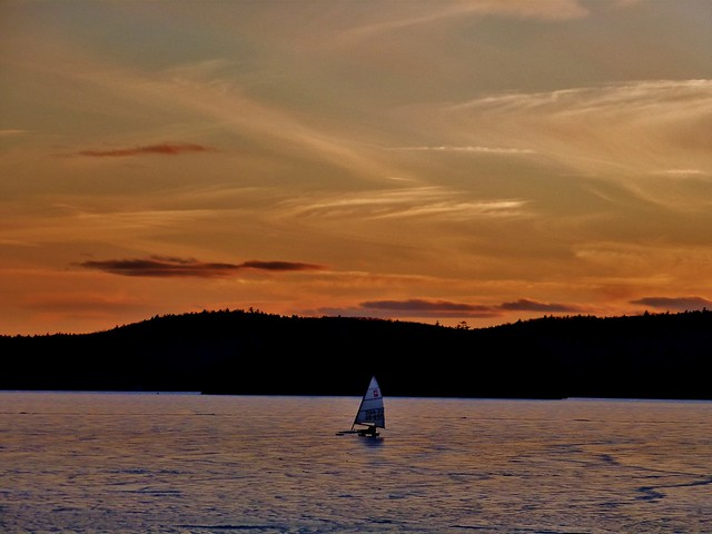 Ice Sailing on Lake Bomoseen