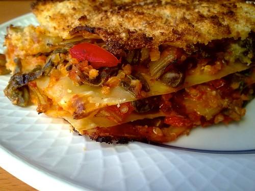 Vegan chard and quinoa lasagna - Lasaña de acelgas y quinoa