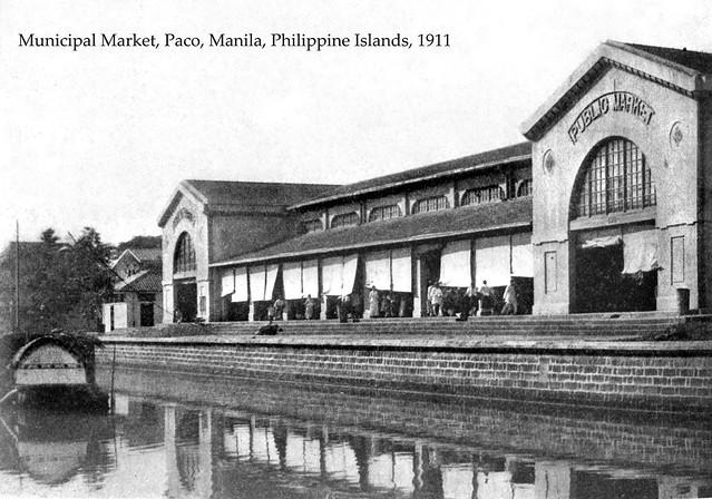 Municipal Market, Paco, Manila, Philippine Islands, 1911