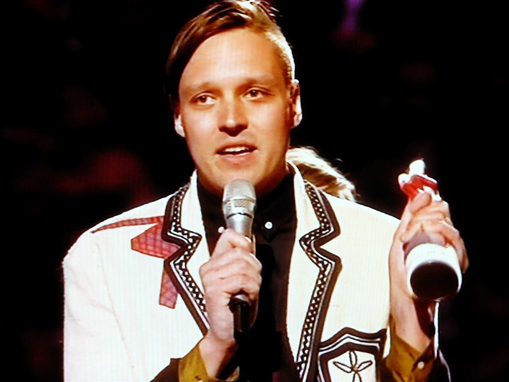 Win Butler of Arcade Fire | Brit Awards 2011 ~~ screenshot | Flickr