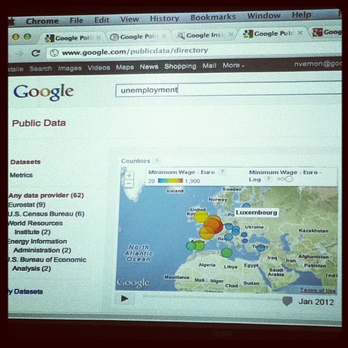 "Googling ""unemployment"" using public data http://www.google.com/publicdata/directory 