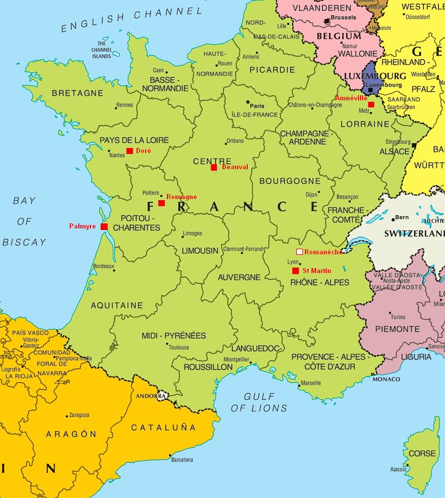 Map Of Zoos In France.Gorilla Zoo Map France All Zoos And Wildlife Parks With G
