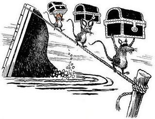 rats jumping ship