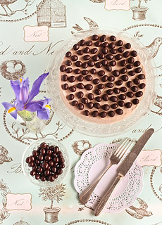 Mocha Marble Cake with Chocolate Covered Coffee Beans | by raspberri cupcakes