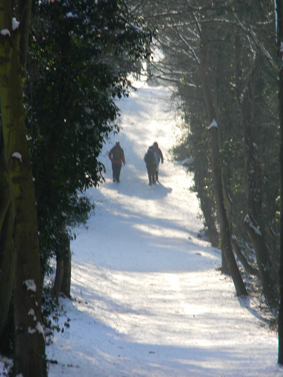 Snowy ride Saunderton to Bledlow