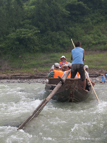 Sampan in the rapids on the Shennong Stream | by retrotraveller
