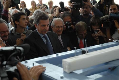 Culture Minister Liapis when the first Sculpture arrives at the New Acropolis Museum   by elginism