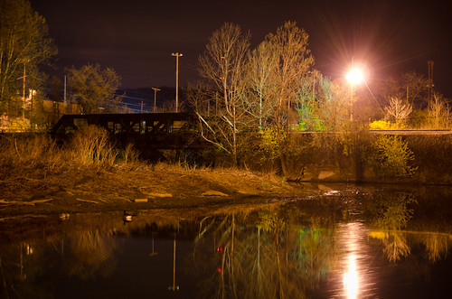 old longexposure bridge ohio reflection tree water night rural marina duck still nikon junction spotlight inlet mingo d7000 tamronspaf1750mmf28xrdillvc truebritgal