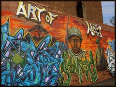 "Mural: ""Art of War,"" Grand River Creative Corridor--Detroit MI"
