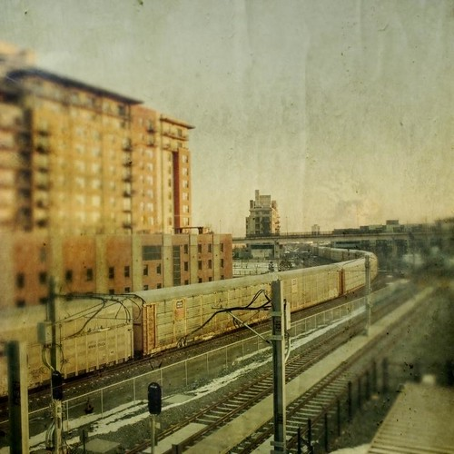 morning winter train sunrise canon square track glow grunge traintracks unionpacific aged condos textured t1i applesandsisters