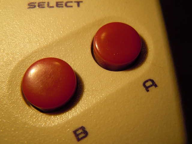 Game Fighter, Gameboy clone - B and A buttons