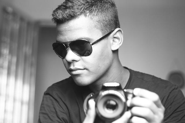 Leo in black and white