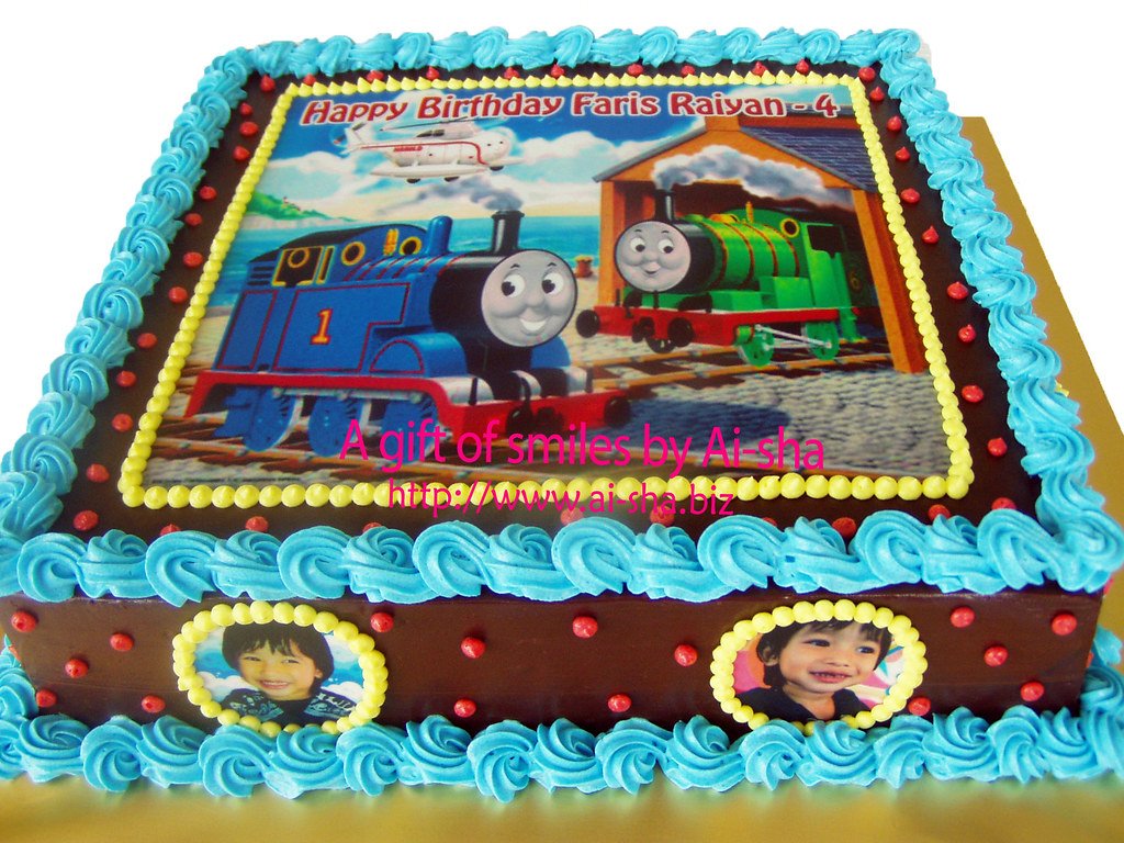 Pleasing Birthday Cake Edible Image Thomas And Friends Aishabiz1 Flickr Birthday Cards Printable Opercafe Filternl