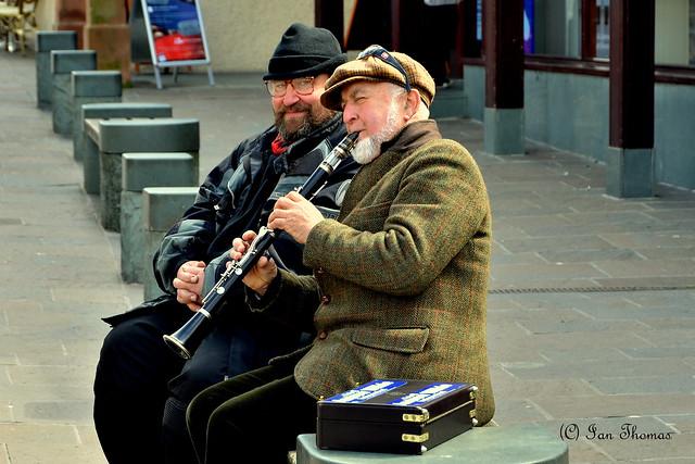 Street Musician In Keswick .. Cumbria ..