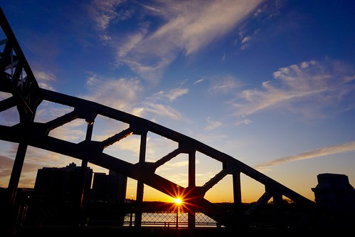 bridge sunset boston river newengland charles sunburst sunrays bu pw