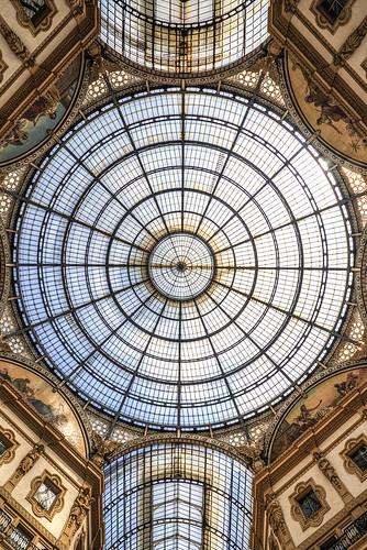 italy glass milano cupola galleriavittorioemanuele galleriavittorioemanuel