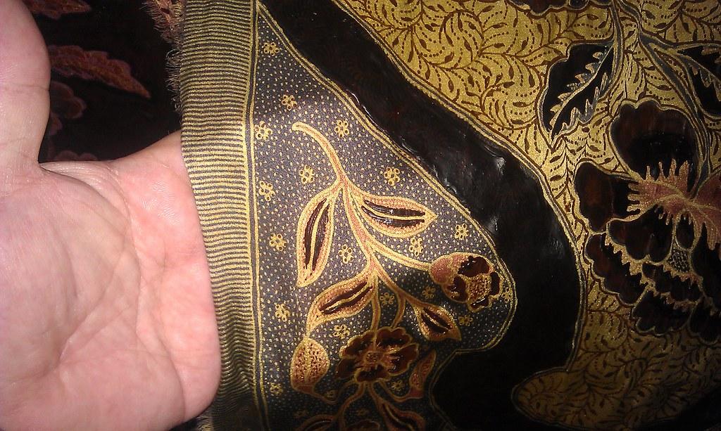 Hand-applied batik on silk