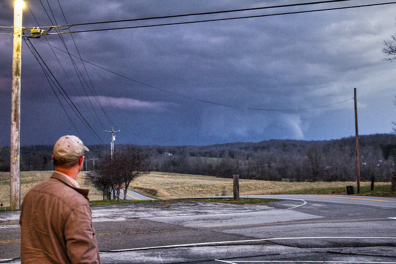 Possible tornado, Ken McDonald, Putnam County, Tennessee