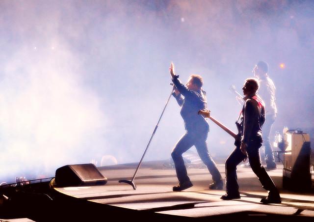 U2 Take Stage