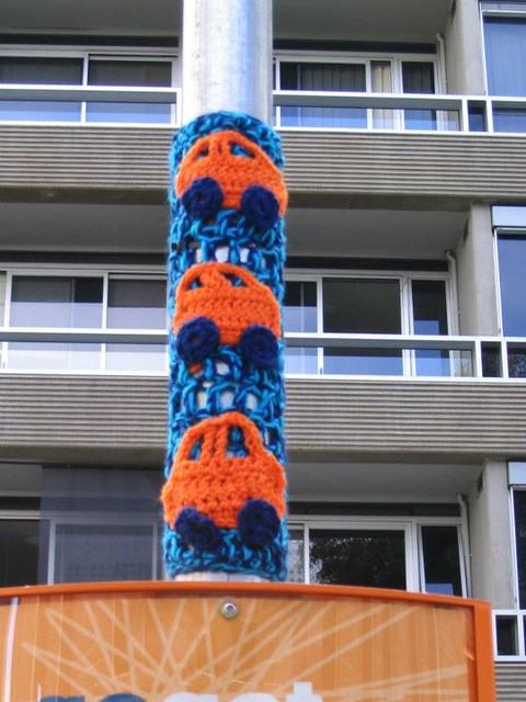 Yarn bombing for GO GET