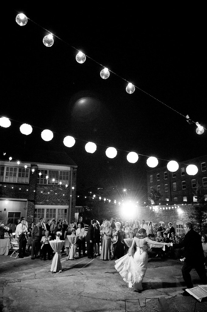 Outdoor Evening Wedding Reception | Atlanta Contemporary Art ...