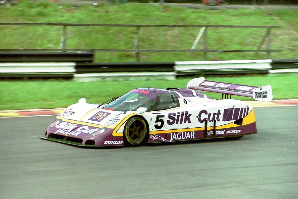 Jaguar XJR-8 - Jan Lammers & John Watson at the 1987 Brand ...