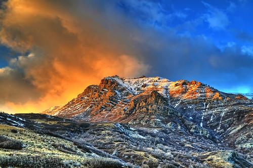winter light sunset clouds forest nikon day natural cloudy mount national timpanogos handheld tamron hdr d300 photomatix 7xp af1750mmf28spxrdiiivc pwwinter