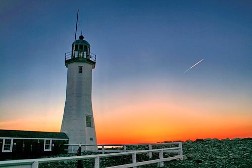 sunset lighthouse sunrise harbor massachusetts scituate deaddogseye