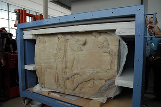 The first Sculpture arrives at the New Acropolis Museum | by elginism