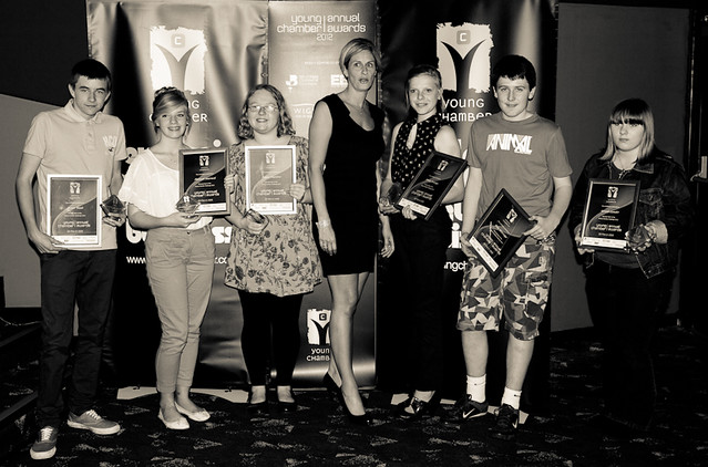 Prize winners at the Young Chamber Annual Awards 2012