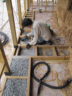 Brett Sweeping out Toe Ups - Strawbale House Build in Redmond Western Australia | by Red Moon Sanctuary