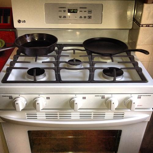 New gas stove: 5 burners!