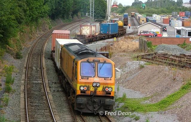 Irish Rail 201 at North Esk.