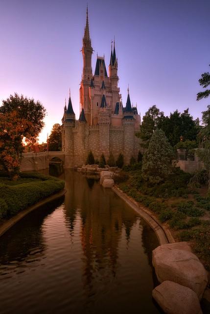 Magic Hour on Cinderella Castle