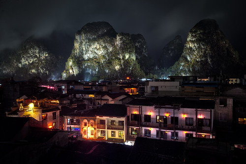 Karst towers in town