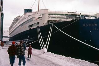 Cunard QE at Halifax NS 1957