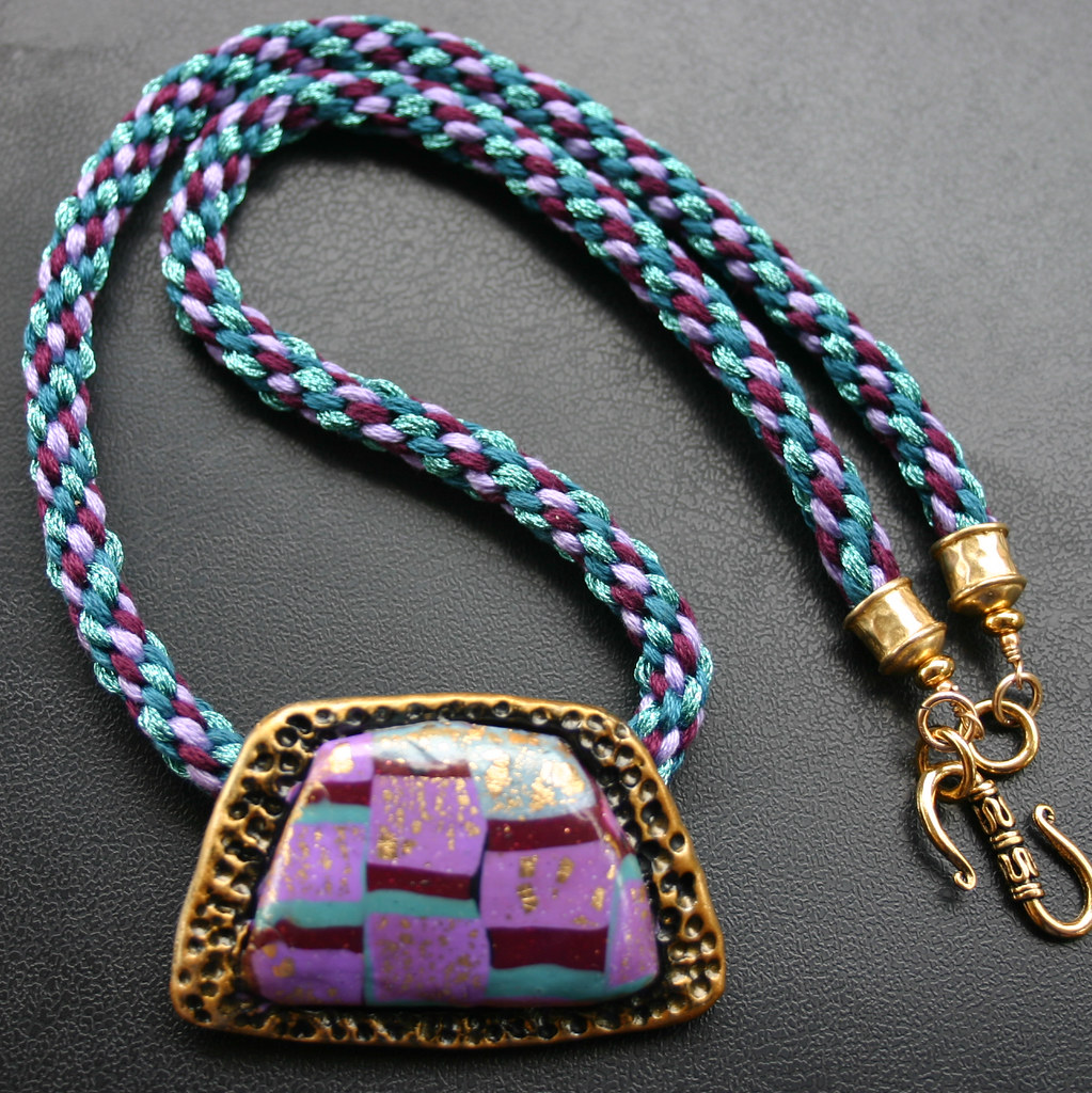Polymer Pendant with Kumihimo Braiding | Jenny Marsden | Flickr