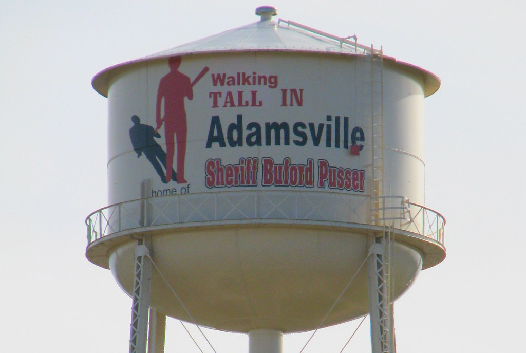 Walking Tall in Adamsville Water Tower | Sheriff Buford Puss