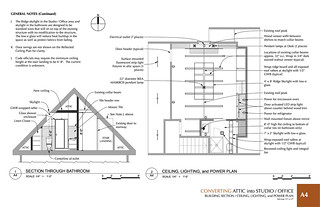 Section View and Reflected Ceiling Plan View | by arcbazar.com