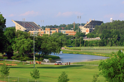 green sc water grass campus death football athletics paw pond memorial university pretty photographer view stadium south southcarolina valley tigers carolina moat clemson sethberryphotography