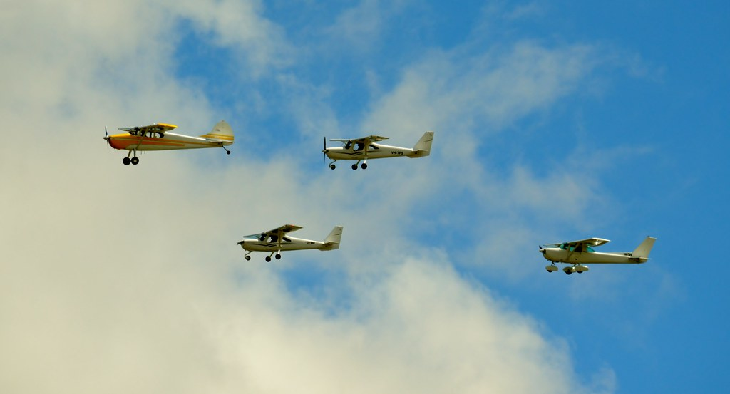 Cessna formation, old and new.