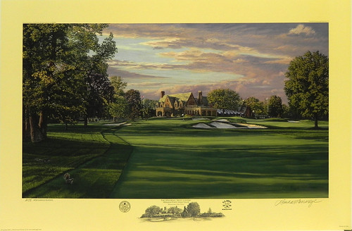 The 9th Hole, West Course, Winged Foot Golf Club, Mamaroneck, NY by Linda Hartough at Smith Galleries | by Smith Galleries