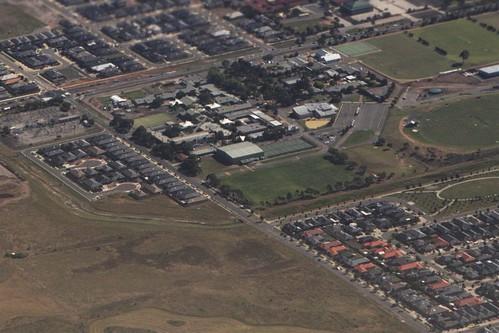 Aerial view of Westboourne Grammar School in Truganina