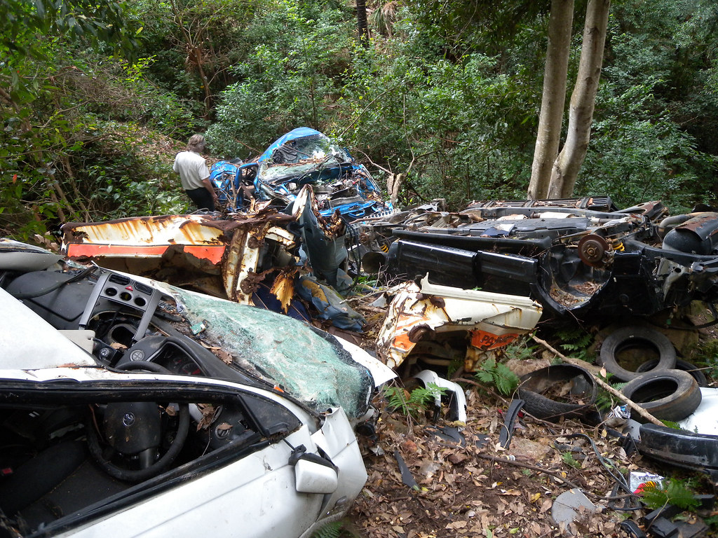 Cars dumped in reserve near Nowra | Read more: www environme