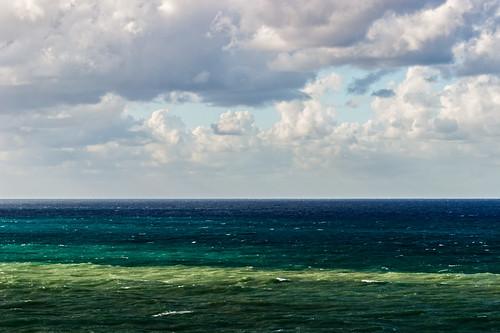 blue sea sky white green clouds turkey seaside october heaven mediterranean seashore middleearth palate incekum cloudsandsea canon600d