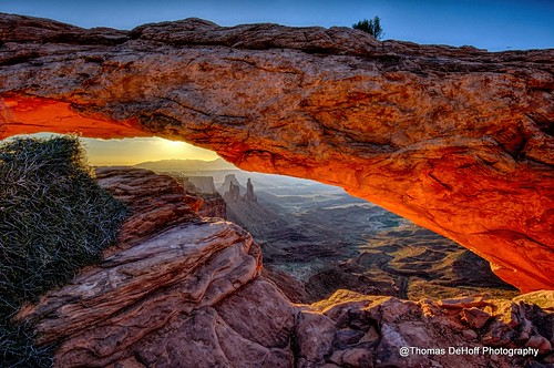 park sunrise landscape arch sony national hdr mesa canyonland a580