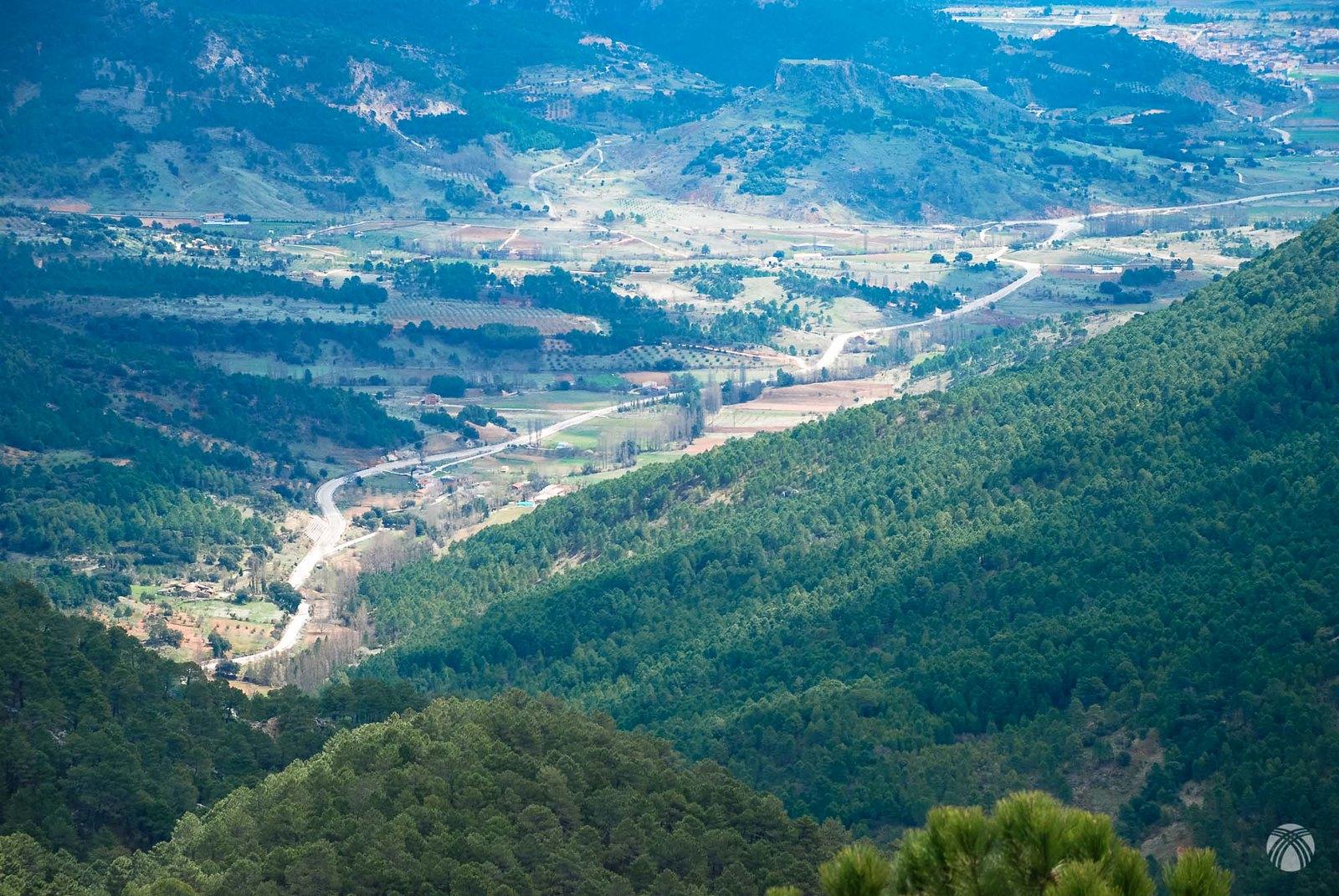 Vistas hacia el valle de Riópar