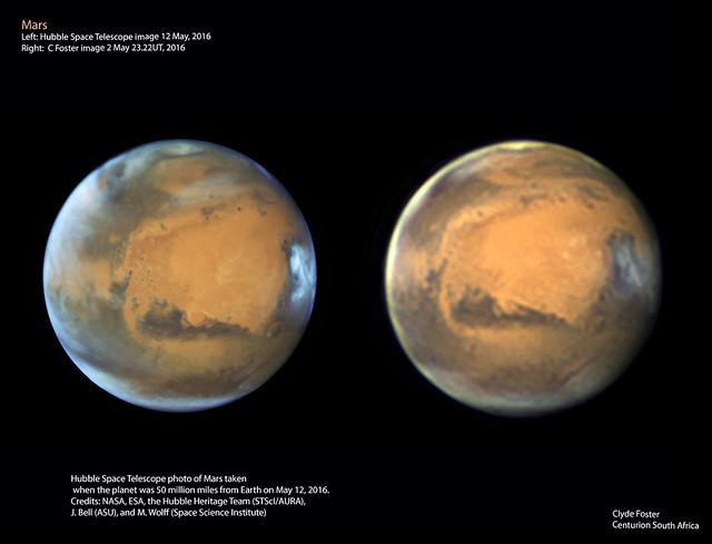 Hubble comparison