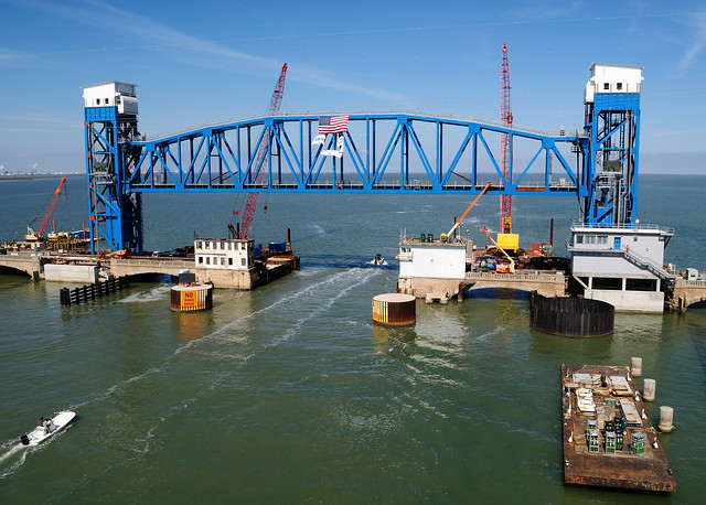New Galveston Causeway Railroad Lift Bridge 0219121402
