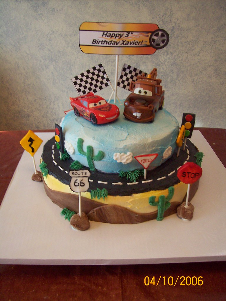 Terrific Lightning Mcqueen And Mater Cars Cake Mcqueen And Mater Ar Flickr Funny Birthday Cards Online Alyptdamsfinfo
